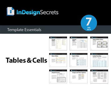 Indesign Template Essentials Tables And Cells Indesignsecrets Com Indesignsecrets Indesign Table Styles Templates Free