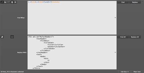 regex pattern for xml the tbilisi tutorial on cqpweb and xml