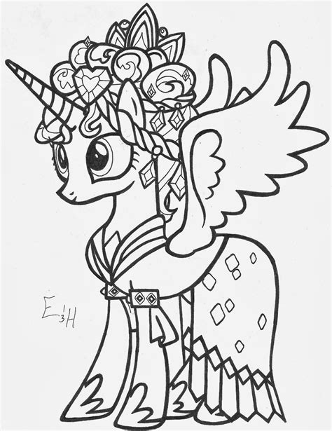 My Little Pony Coloring Pages Princess Cadence Wedding My Pony Princess Cadence Coloring Pages