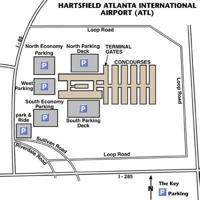 atlanta airport map map
