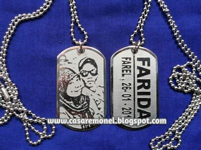 Kalung Nama Stainless Monel Silver kalung foto pahat nama casare monel jepara 085225716666