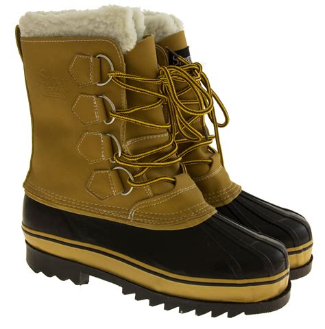 warm boots mens new snowy creek warm lined waterproof snow boots