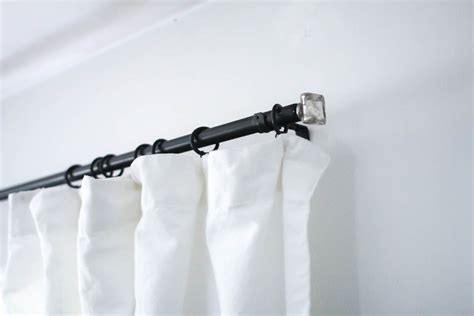 discount curtain rods add style to cheap curtain rods with diy finials lovely etc
