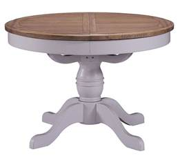 Grey Wood Kitchen Table Grey Painted Oak Extending Dining Table Oval Wooden Kitchen Table Ebay