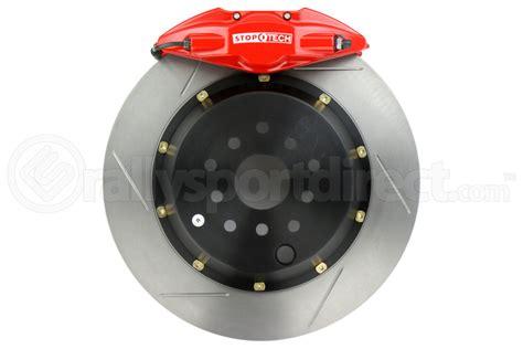 brakes biggest fan pt 2 stoptech st22 big brake kit rear 345mm red slotted rotors
