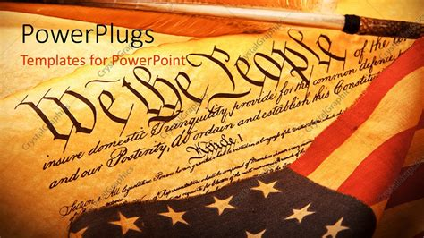 constitution background powerpoint template scroll of american constitution