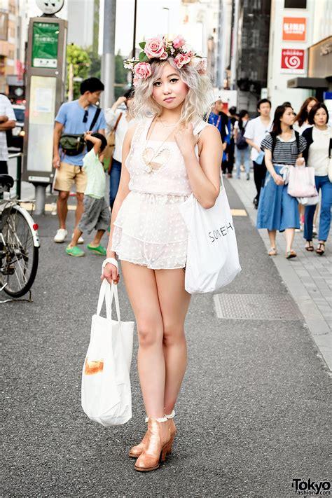 Yuyu Ruffle Dress harajuku in flower crown dolly molly jeannie