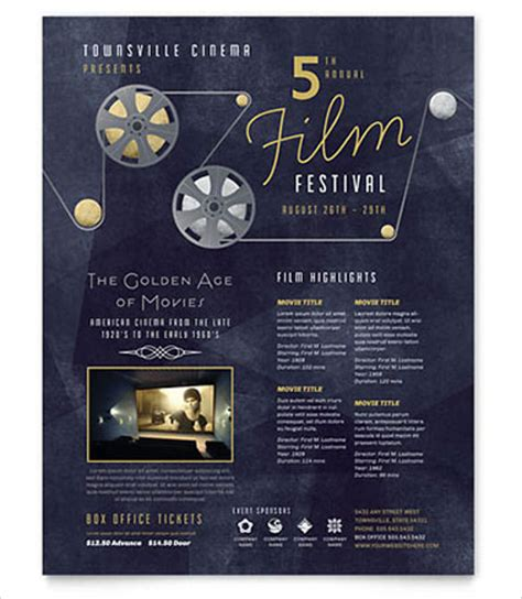 Festival Brochure Template by 23 Free Event Flyer Templates In Microsoft Word