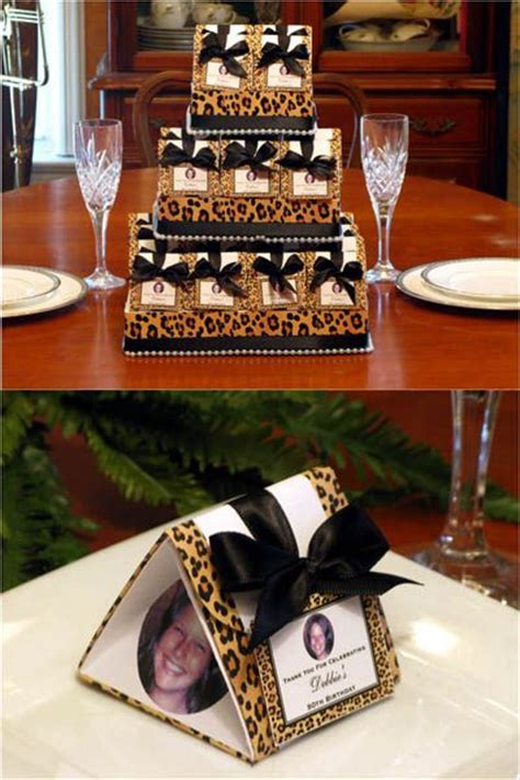 leopard centerpiece ideas leopard bridal shower birthday origami favor boxes and
