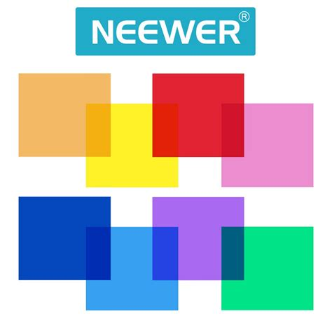 Mermaid Half Pack 30 X 30 Cm neewer 12 quot 30cm 8 set pack of gel sheet transparent color correction light gel filter for