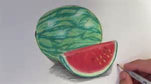 realistic watermelon speed drawing youtube