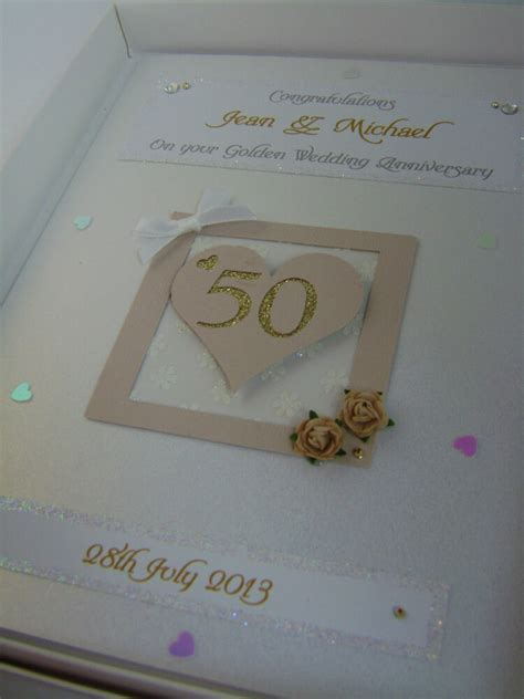Personalised Golden 50th Wedding Anniversary Card