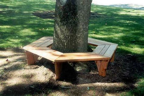 wooden tree bench mountainwood woodworking