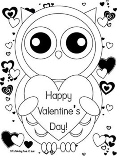 valentine owl coloring page valentine s day owl coloring page valentine s day owl theme