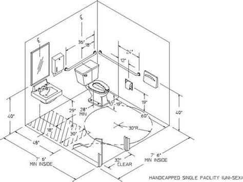 Bathroom Fixture Sizes Best 25 Ada Bathroom Ideas On Handicap Bathroom Wheelchair Accessible Shower And