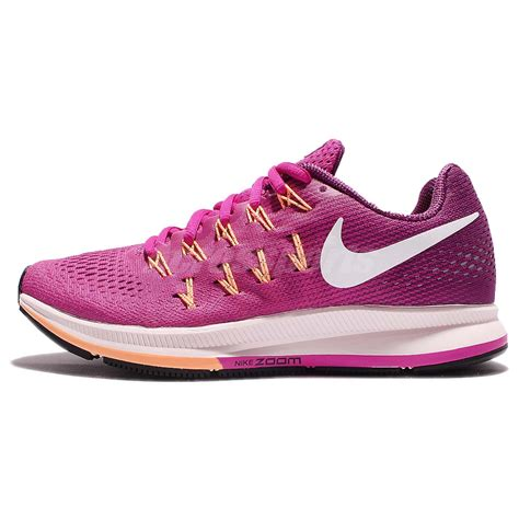 Sepatu Nike Zoom Womens Pink Import wmns nike air zoom pegasus 33 pink purple running shoe sneakers 831356 602 ebay