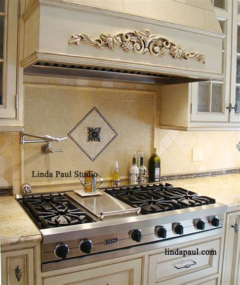 contemporary kitchen backsplash ideas tribeca medallion