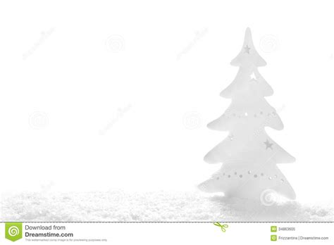white christmas snowy tree on white background royalty