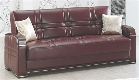 Manhattan Sofa Bed Manhattan Sofa Bed In Burgundy Leatherette W Optional Items