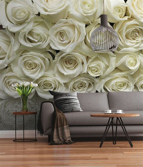wallpaper for walls with roses white roses wall mural for wall