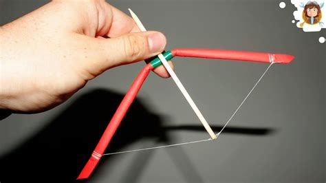How To Make Crossbow Out Of Paper - how to make a mini bow and arrow paper bow