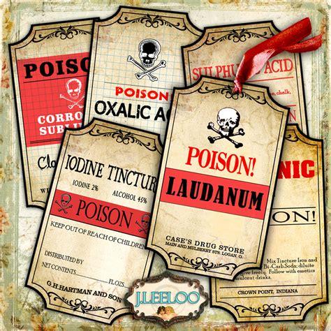 printable poison labels printable tags poison label bottle jar labels halloween