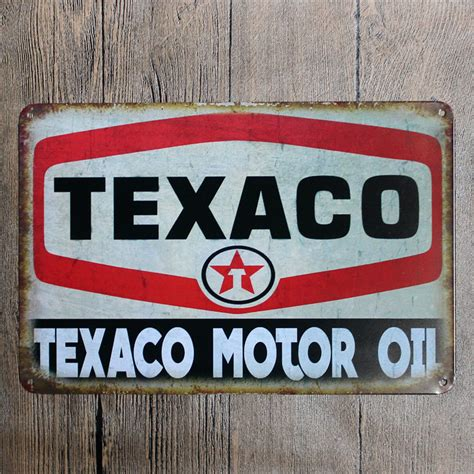 metal signs home decor vintage home decor texaco motor oil vintage metal tin