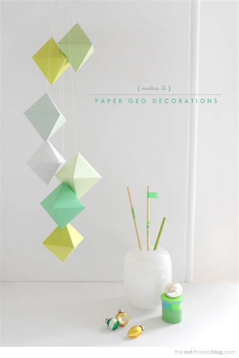 Paper Decorations To Make - 24 craft tutorials for a handmade we