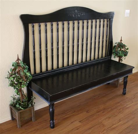 baby crib bench turn a crib into a bench like it pinterest