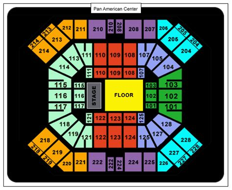 pan am center seating map trans siberian orchestra pan american center nmsu tickets