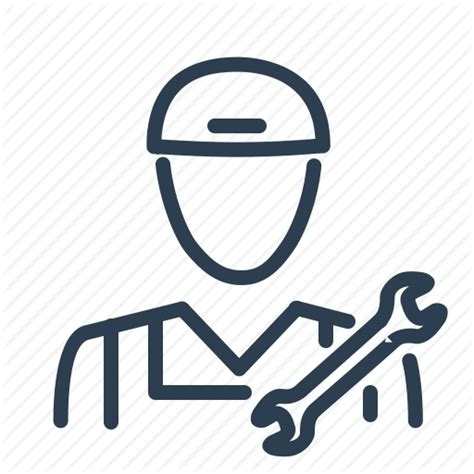 repair icon fix labour man repair service man worker wrench icon