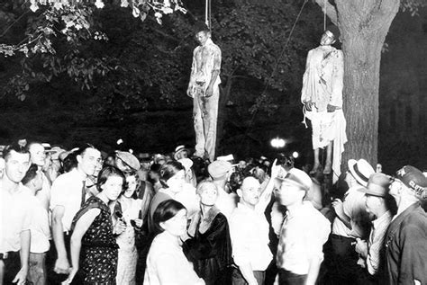 black bodies swinging in the southern breeze a notorious lynching lies at the end of the evening road