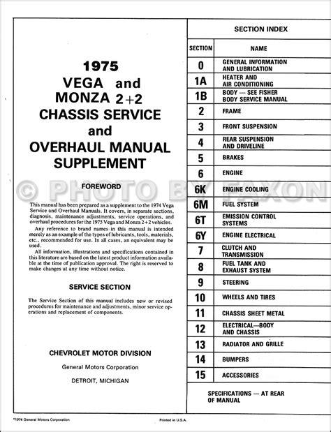 service manual best car repair manuals 1975 chevrolet monza free book repair manuals 1975