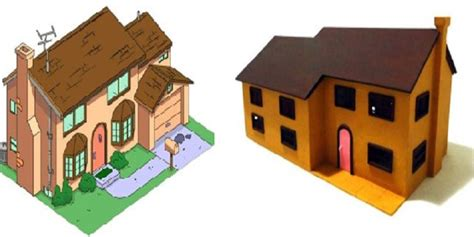 3d Print Filament Reddish Brown 3d print your own replica of the simpsons house thanks to