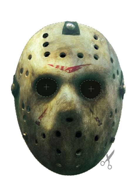 How To Make A Jason Mask Out Of Paper - free friday the 13th jason vorhees hockey mask printable