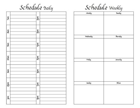 printable daily schedule sheets best photos of printable weekly time sheet record
