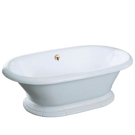 bathtub home depot kohler vintage 6 ft center drain bathtub in sandbar k 700