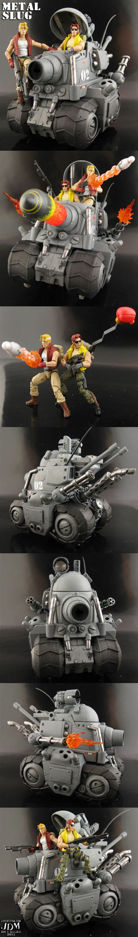 Jo In Stripe Sound Toys custom 1 18 scale metal slug tank with marco and tarma