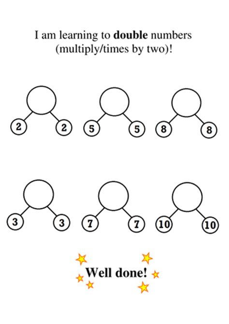 printable worksheets for halving numbers doubling and halving simple and clear worksheets by