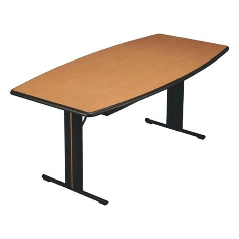 36 X 96 Conference Table Midwest Folding Products Boat Shaped C Series Mdf Conference Table 36 Quot W X 96 Quot L