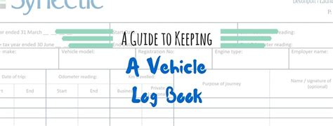 template of vehicle log book keeping a vehicle log book plus your free template synectic