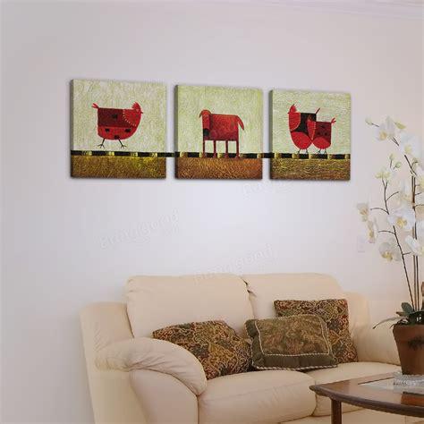 quadri su tela senza cornice 50x50cm 3pcs combinazione pitture a olio di diy quadri