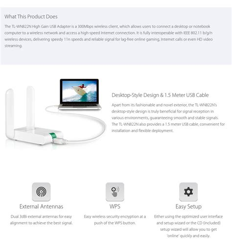 Tp Link Tl Wn822n 300 Mbps High Gain Wireless N Usb Ad Diskon tp link wn822n 300mbps high gain wireless n usb adapter