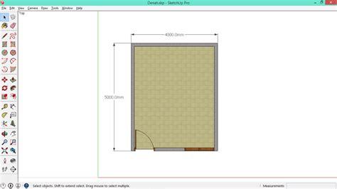 cara membuat video animasi di google sketchup cara menggambar denah sederhana di sketchup belajar