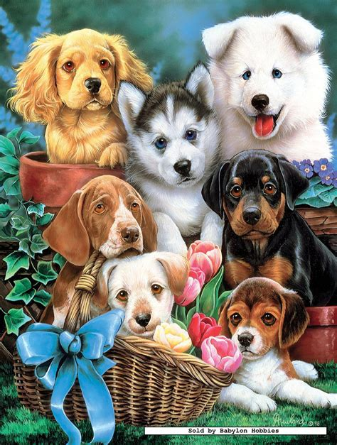 puppy puzzle 750 pcs jigsaw puzzle newland puppy pals dogs masterpieces 61120 ebay