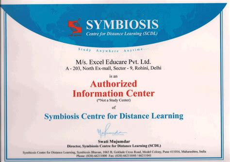 Symbiosis Mba Question Papers In Distance Learning by Scdl Diploma Certificate Sle Choice Image Certificate
