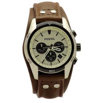 Fossil Ch 2890 Silver Brown joylot fossil s coachman ch2890 brown leather cuff