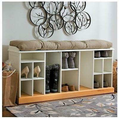 shoe storage bench elegant wood wooden boot compartments