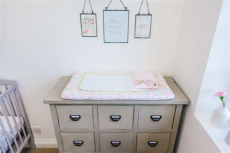 Nursery Decoration Uk A Modern Stylish Baby Nursery Decorated On A Budget In Grey Green And Pink