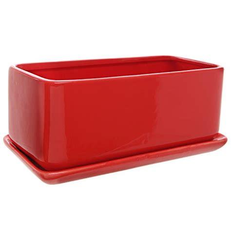 10 inch ceramic planter 10 inch rectangular modern minimalist ceramic